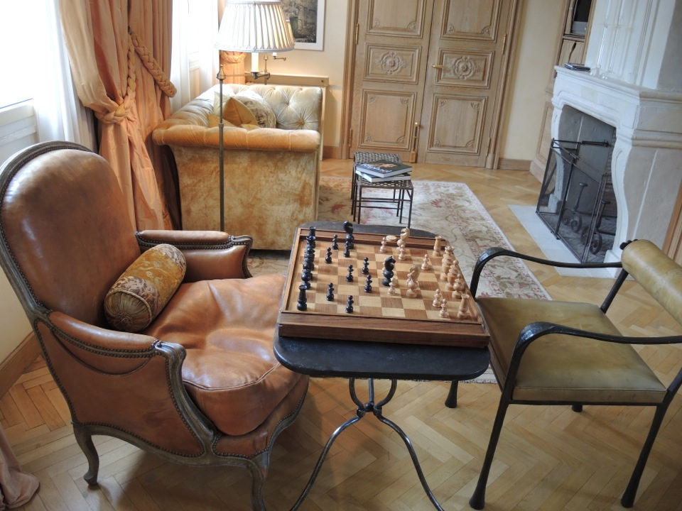 chess board indoors