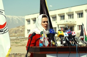 Fatima Gailani, Afghanistan, Red Crescent, Media